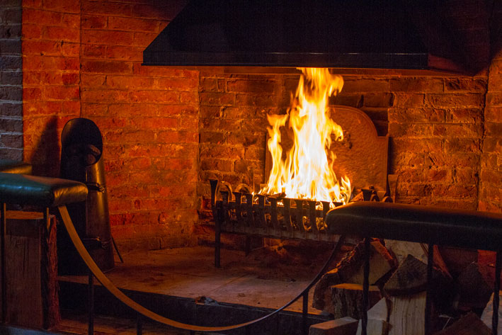 Open fires and log burners keep us nice and warm throughout the winter